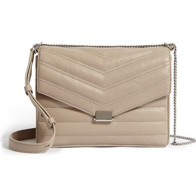 Allsaints Justine Quilted Leather Crossbody Bag - Beige