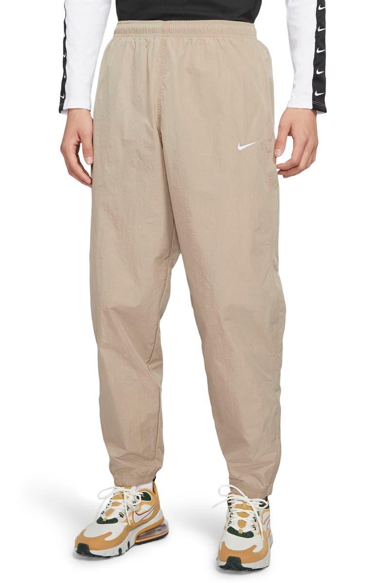 NIKE NikeLab Collection NRG Nylon Track Pants, Main, color, KHAKI/ WHITE