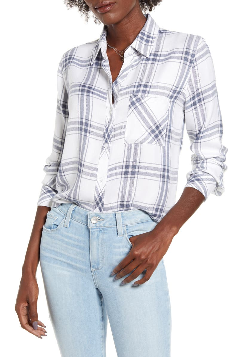RAILS Hunter Plaid Shirt, Main, color, WHITE STORM