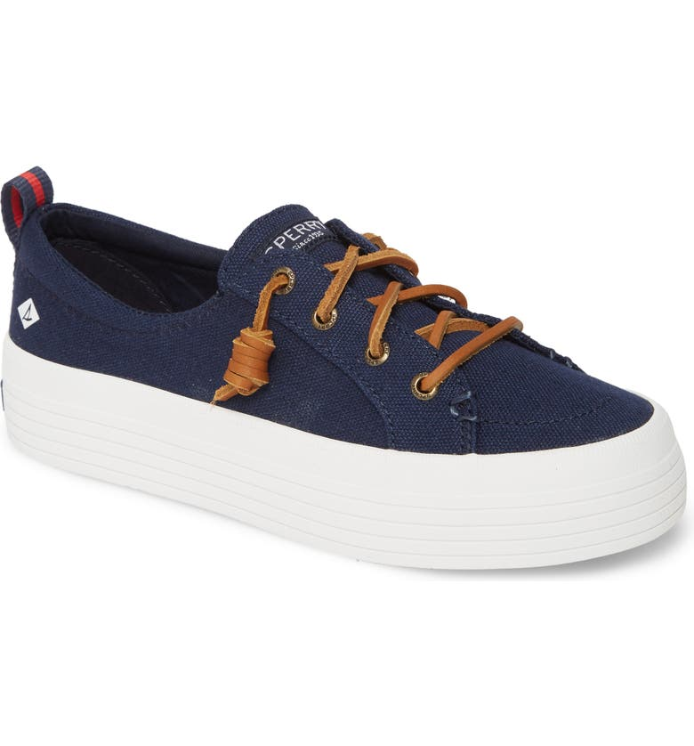 SPERRY Crest Vibe Platform Sneaker, Main, color, NAVY CANVAS