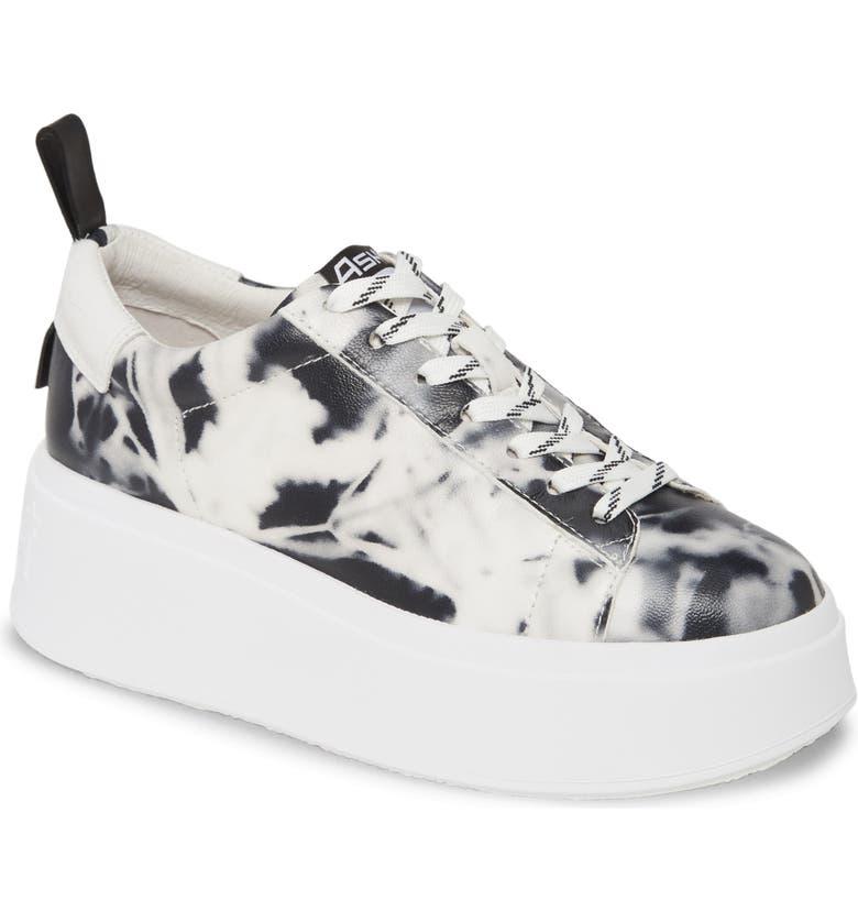 ASH Moon Platform Sneaker, Main, color, BLACK/ WHITE/ BLACK