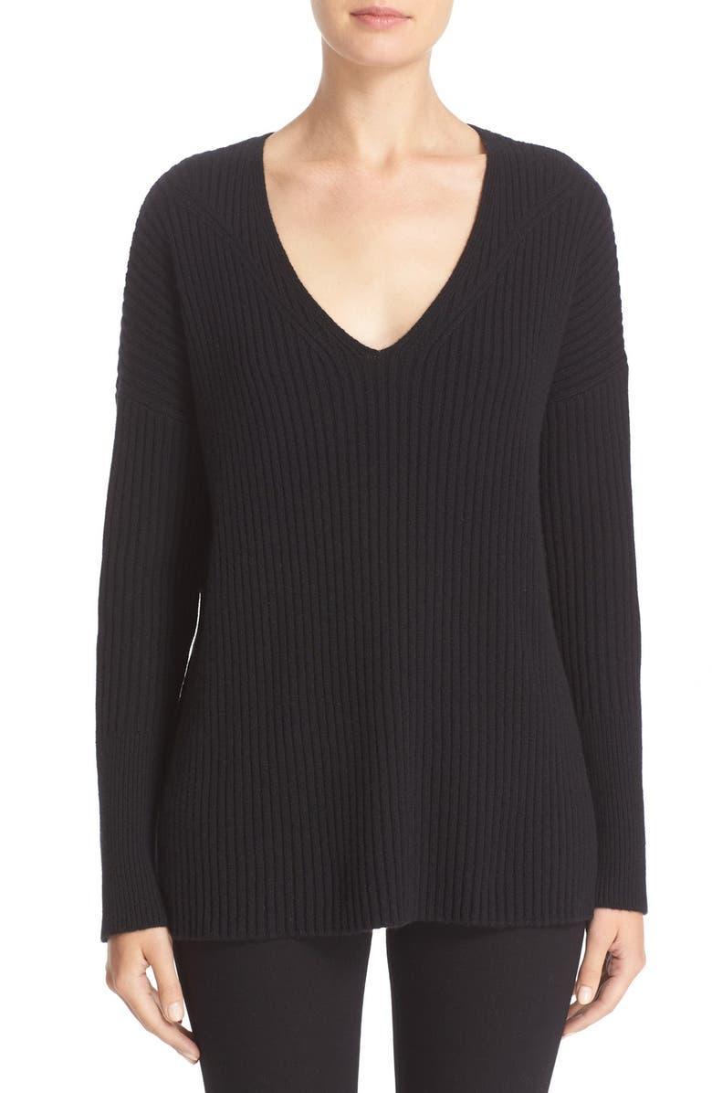 RAG & BONE Phyllis Cashmere Sweater, Main, color, 001