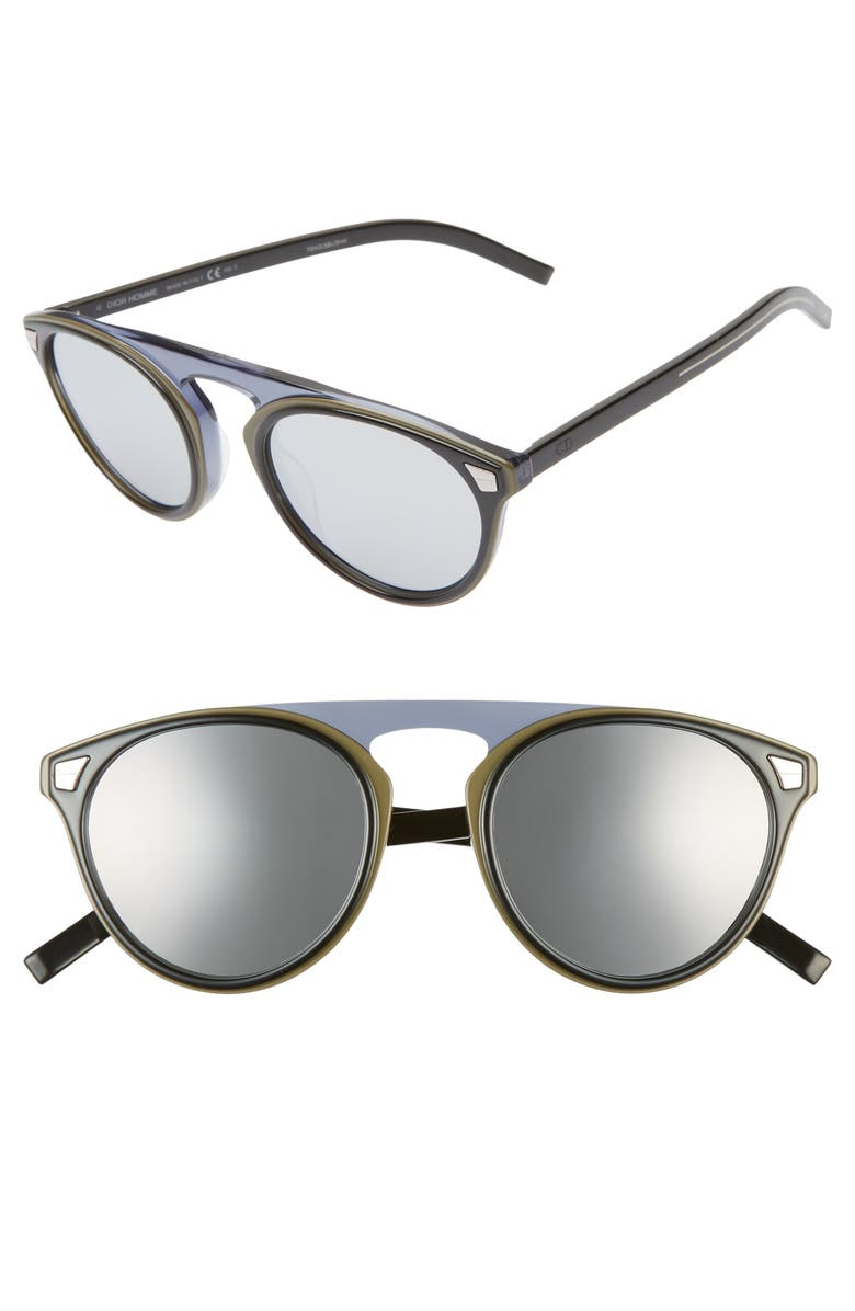 DIOR 52mm Round Sunglasses, Main, color, 001