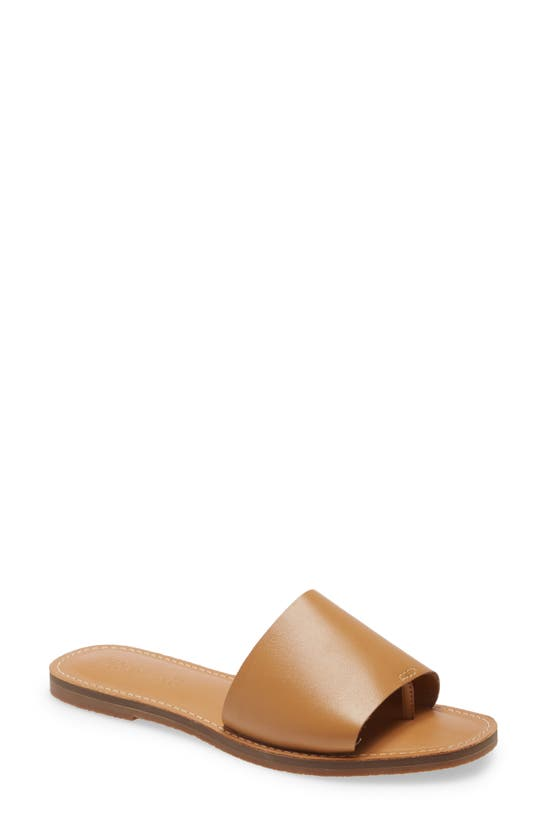 Madewell THE BOARDWALK POST SLIDE SANDAL