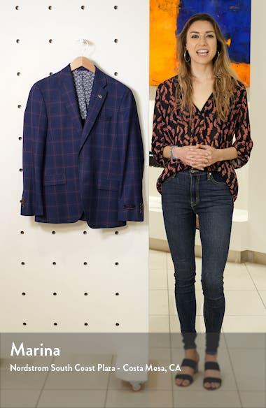 Konan Trim Fit Windowpane Wool Sport Coat, sales video thumbnail
