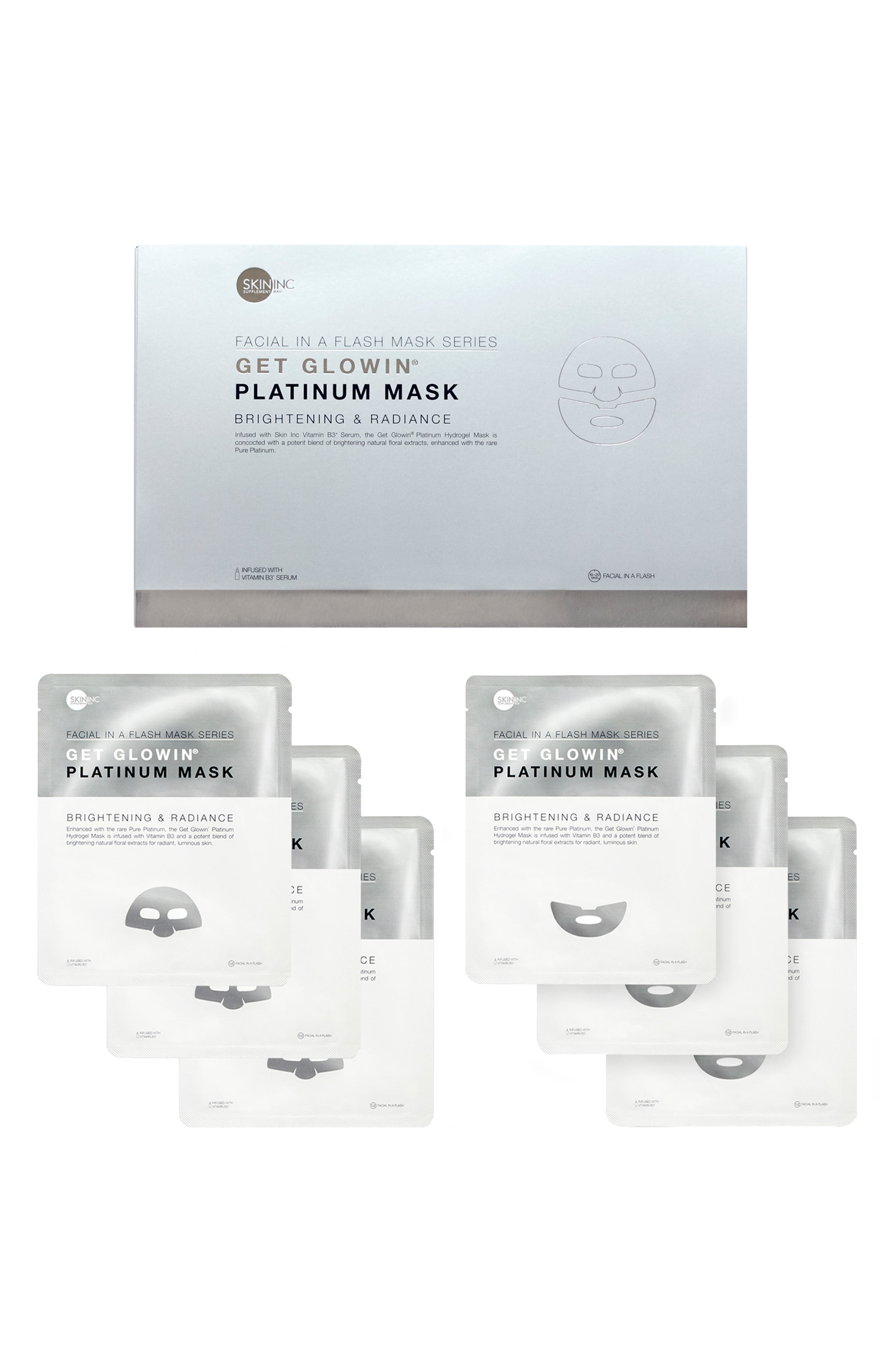 . Get Glowin'<sup>®</sup> Platinum Mask Set, Main, color, NO COLOR