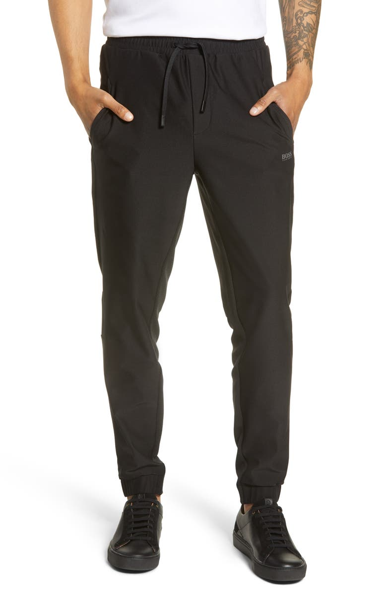 BOSS Slim Fit Track Pants, Main, color, BLACK