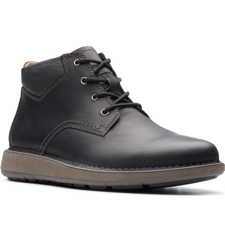CLARKS<SUP>®</SUP> Un.Larvik Sneaker, Main, color, BLACK OILY LEATHER