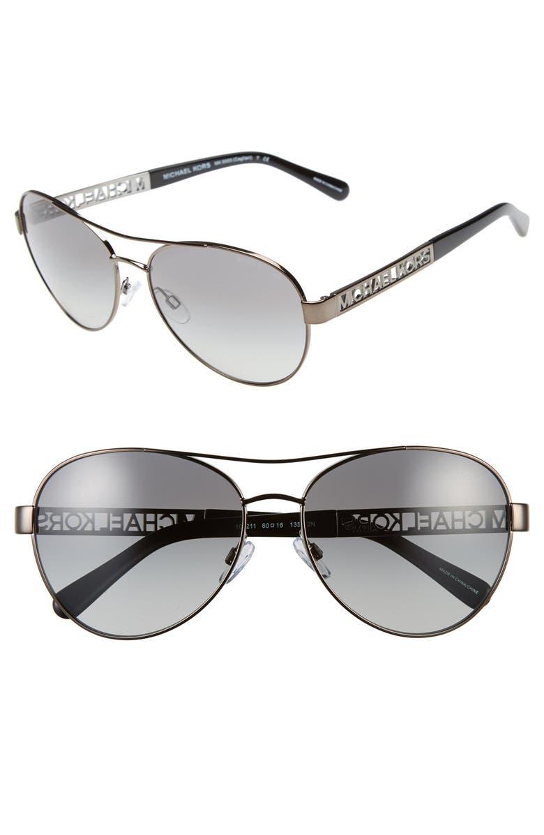 d72a1bb3cccf Michael Kors Collection 60mm Aviator Sunglasses | Nordstrom