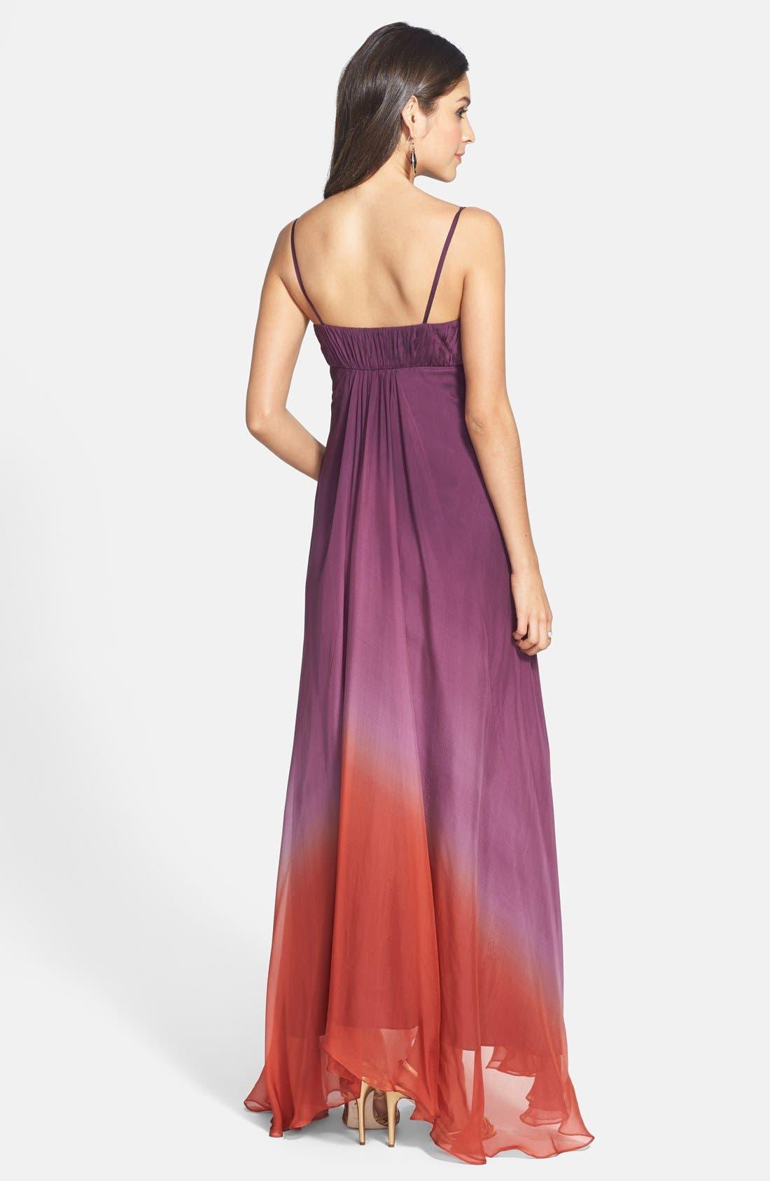,                             Ombré Chiffon Gown,                             Alternate thumbnail 2, color,                             500