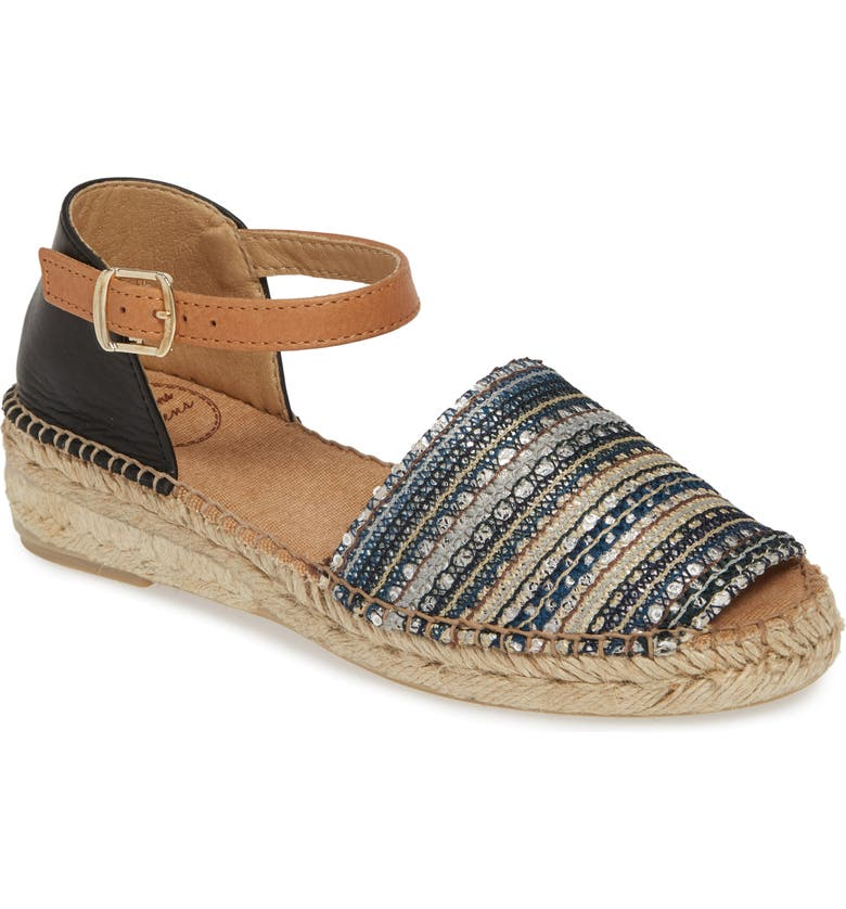 TONI PONS Elgin Espadrille Sandal, Main, color, TAUPE FABRIC/ LEATHER