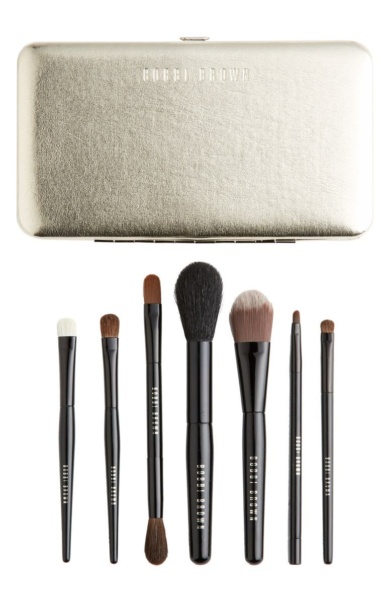 BOBBI BROWN Limited Edition 'Old Hollywood' Luxe Travel Brush Set, Main, color, 000