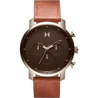 Mvmt The Chrono Chronograph Leather Strap Watch, 45mm