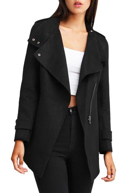 Image of Belle & Bloom Bad Girl Wool Blend Moto Coat