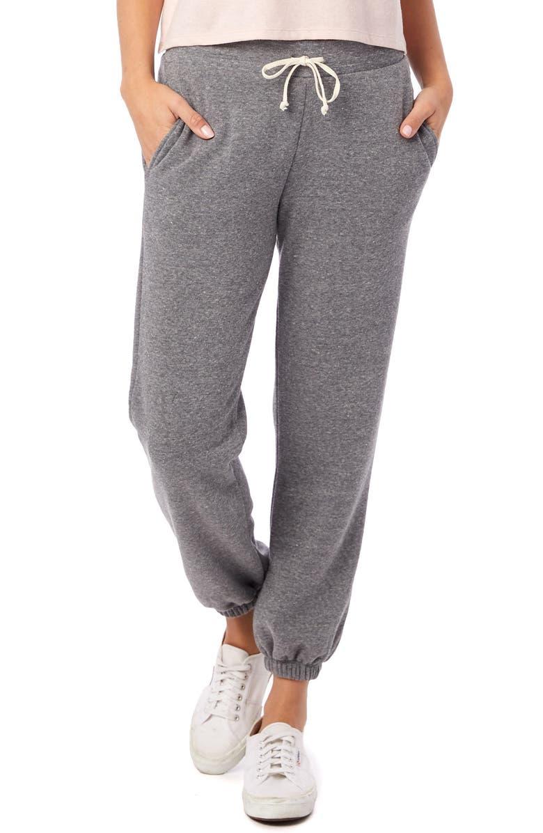 ALTERNATIVE Classic Eco-Fleece Sweatpants, Main, color, ECO GREY