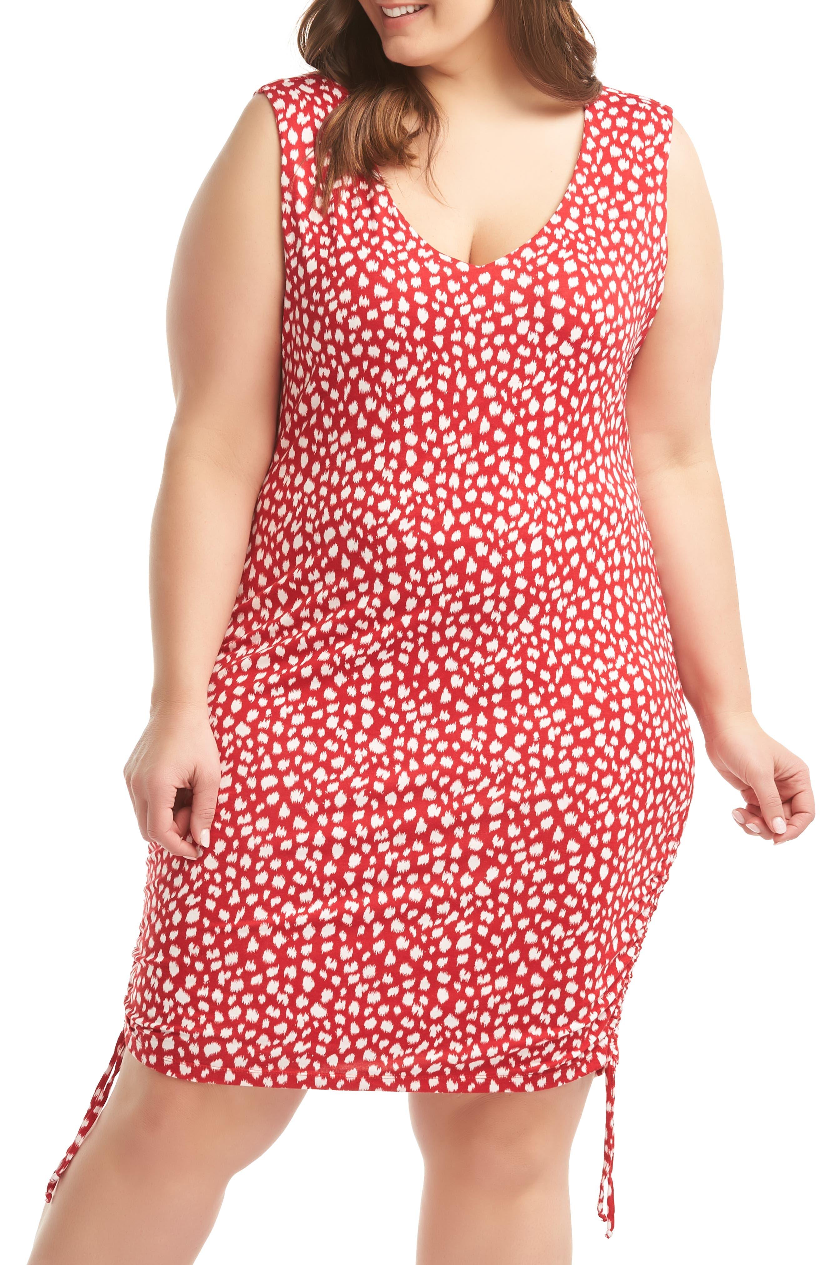 Plus Size Lemon Tart Priya Dress, Brown