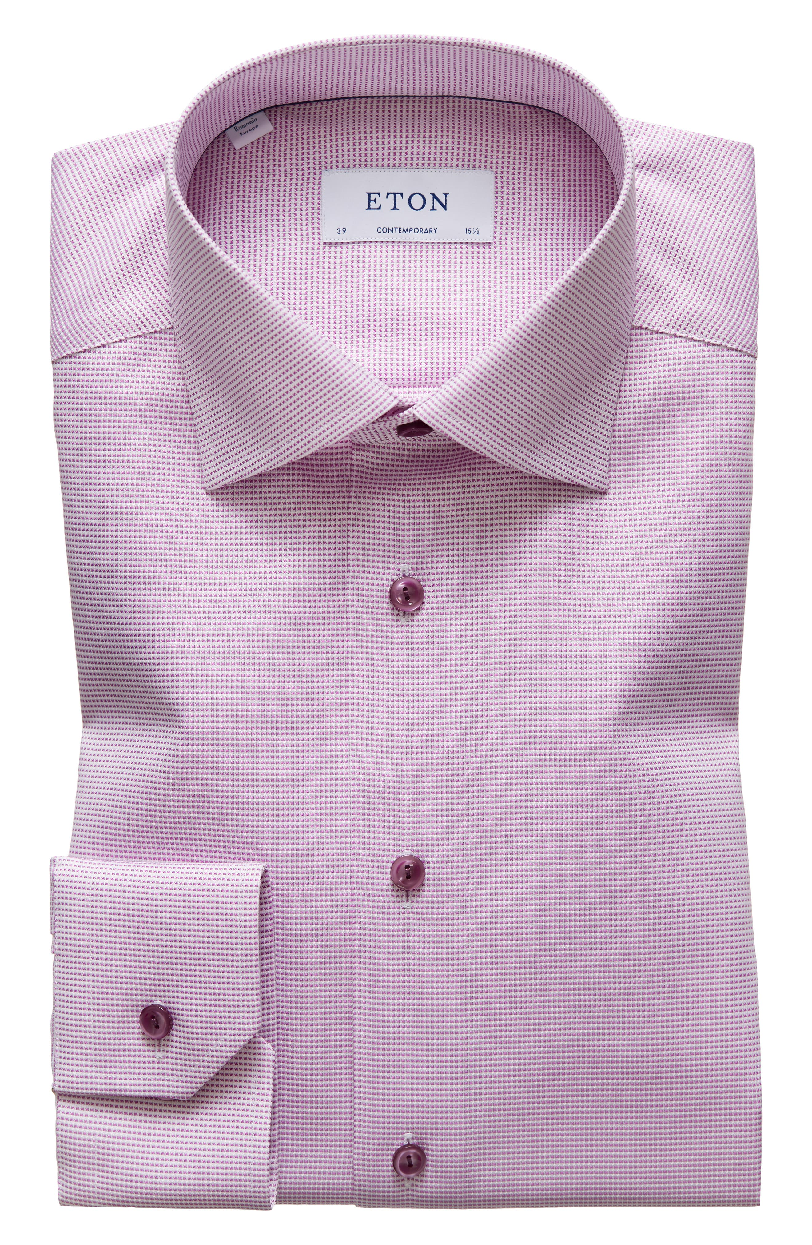 Image of Eton Contemporary Fit Solid Dress Shirt