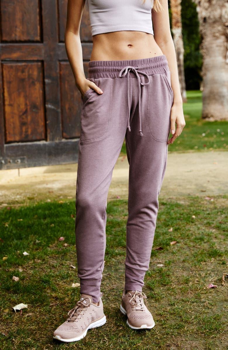 FREE PEOPLE FP MOVEMENT Sunny Skinny Sweatpants, Main, color, ELDERBERRY TEA