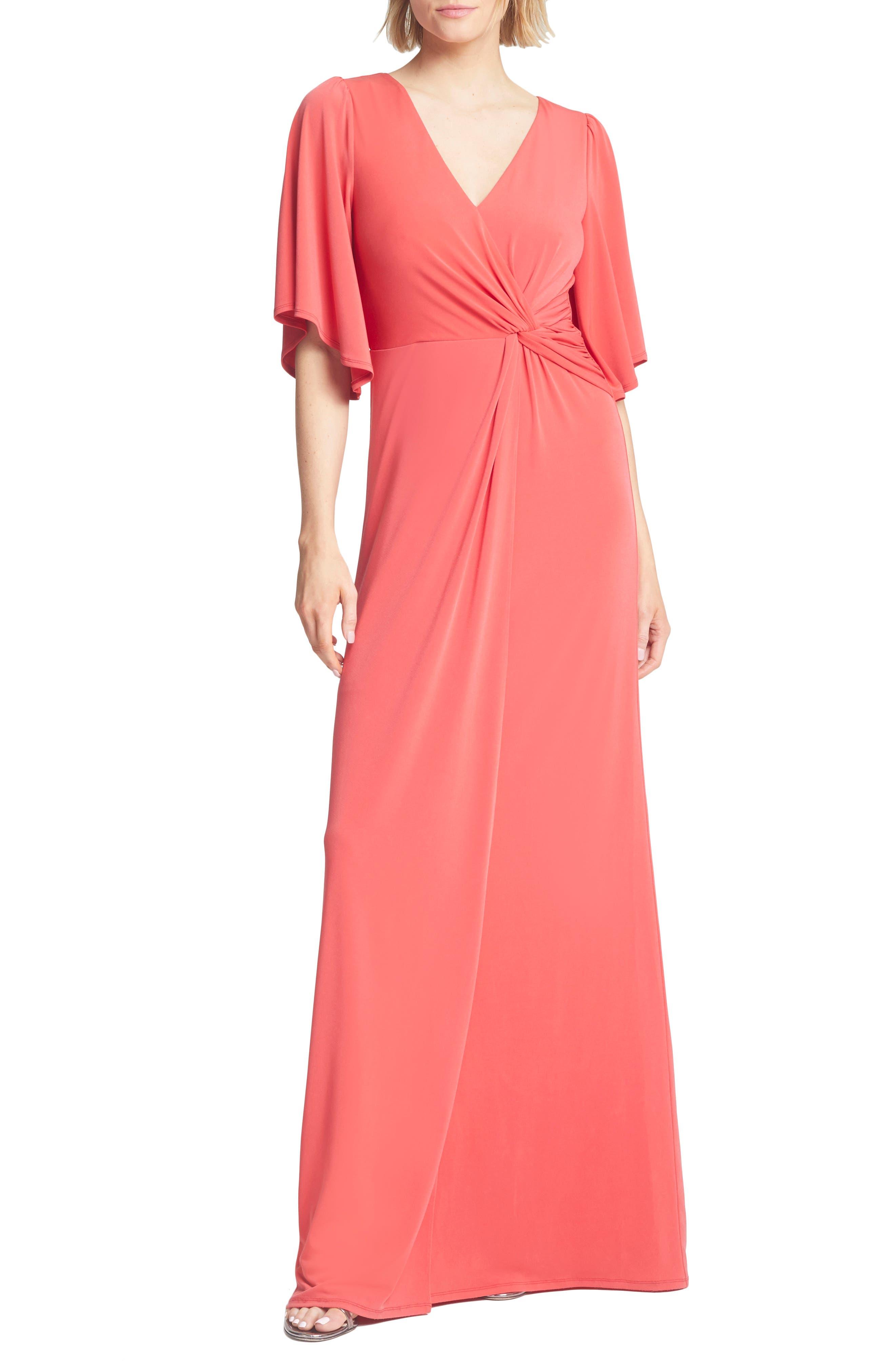 Twist Waist Jersey Gown