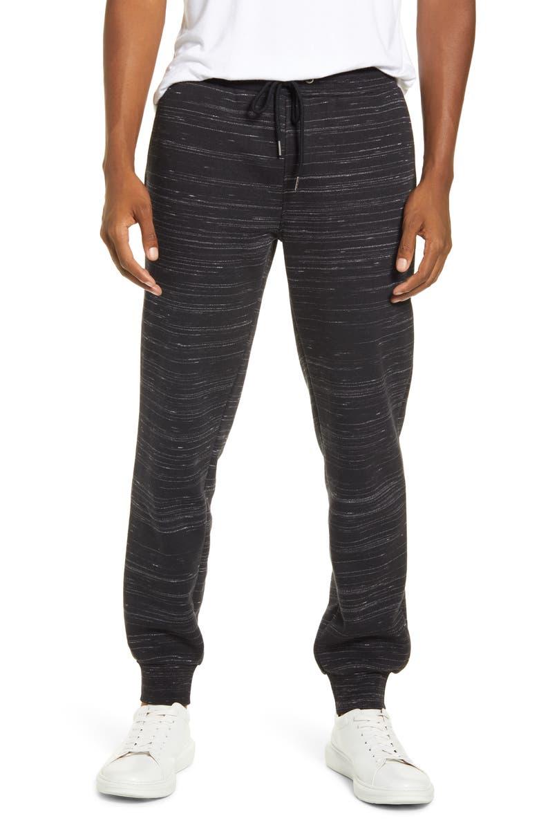 BP. Texture Fleece Jogger Pants, Main, color, BLACK-GREY HEATHER