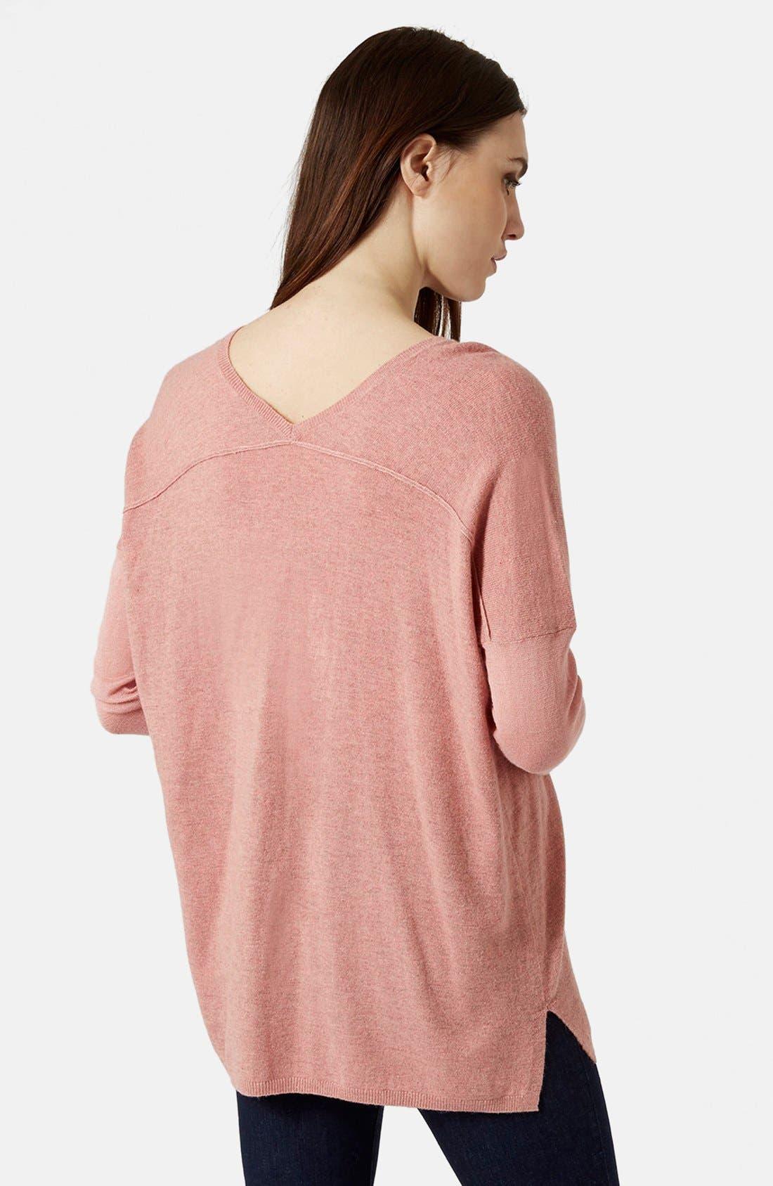 ,                             Front Seam V-Neck Sweater,                             Alternate thumbnail 10, color,                             651