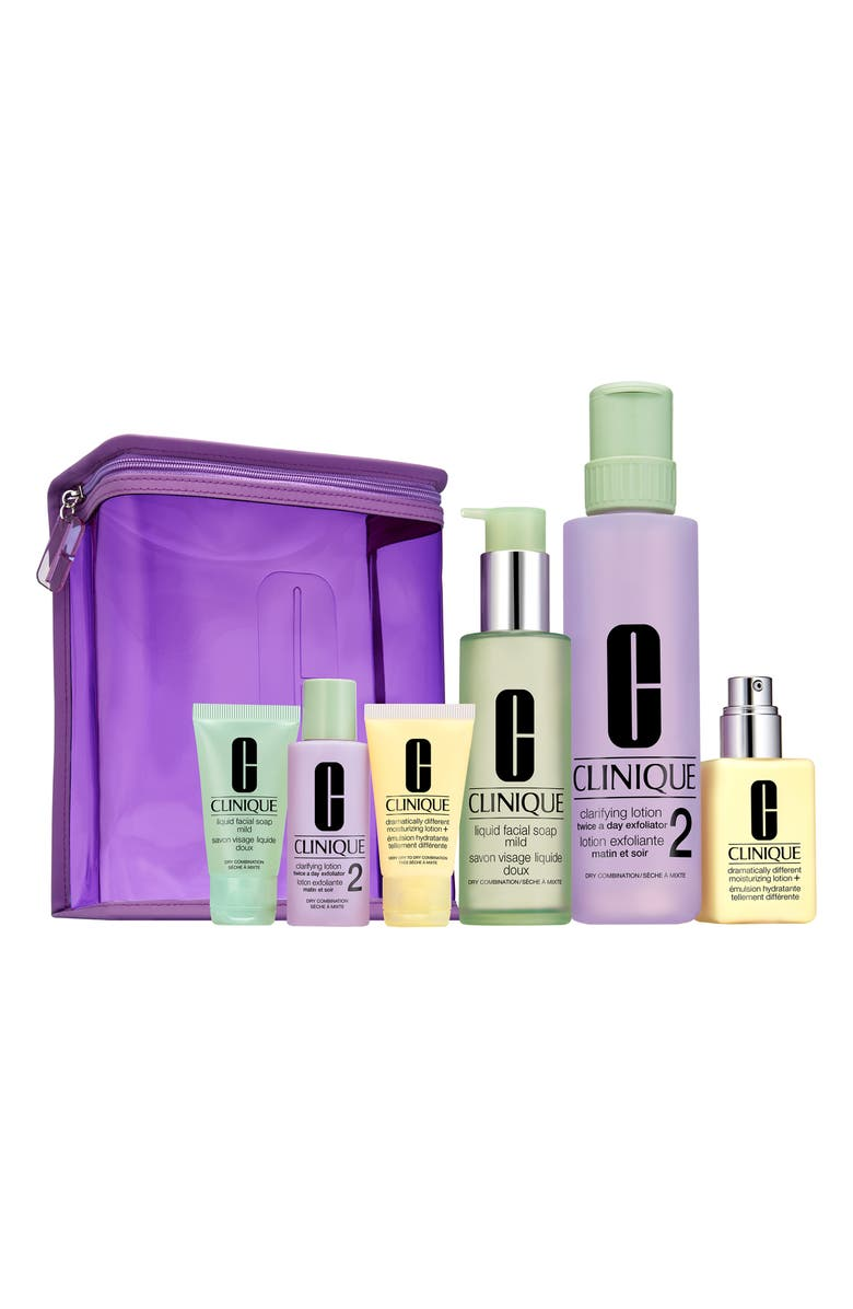 CLINIQUE Great Skin Home & Away Set for Skin Types I & II, Main, color, NO COLOR