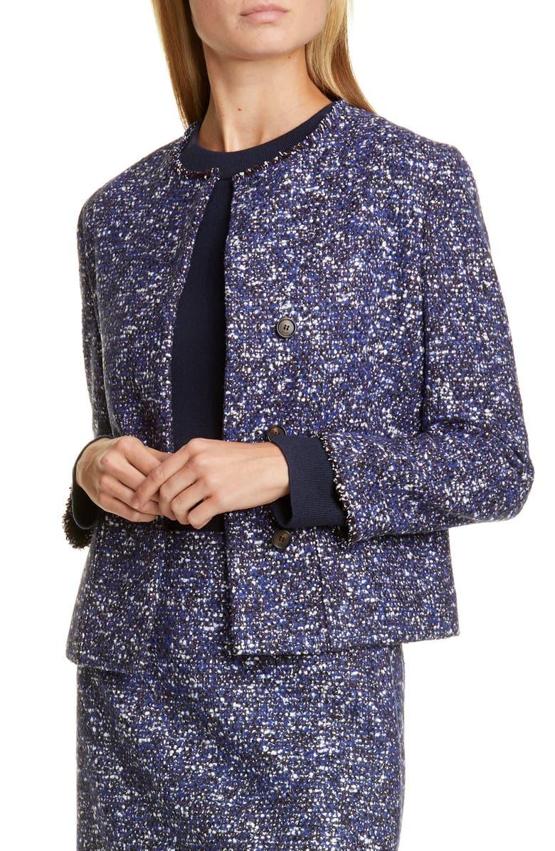 BOSS Julira Tweed Suit Jacket, Main, color, PILOT FANTASY
