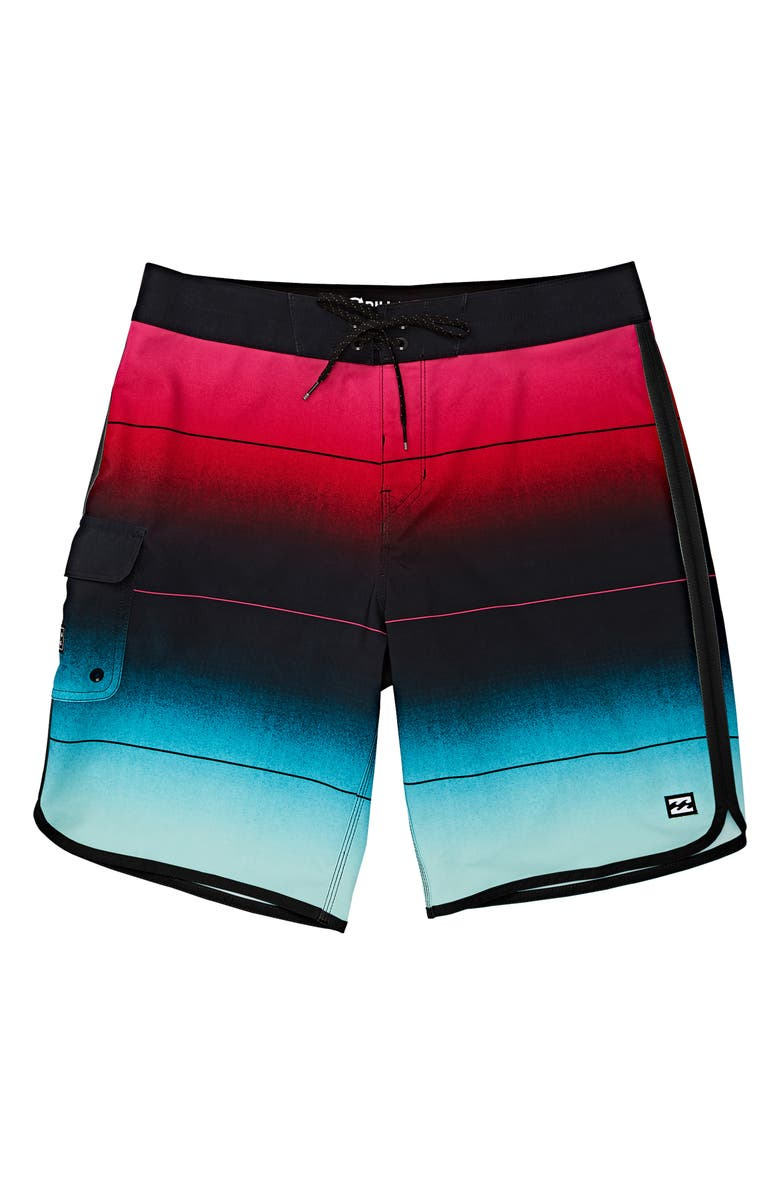 BILLABONG 73 Stripe Pro Board Shorts, Main, color, MINT GREEN
