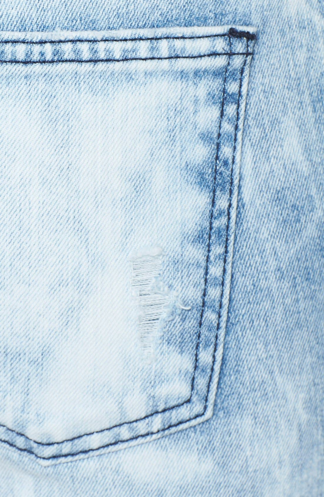,                             'The Stiletto' Destroyed Skinny Jeans,                             Alternate thumbnail 3, color,                             453