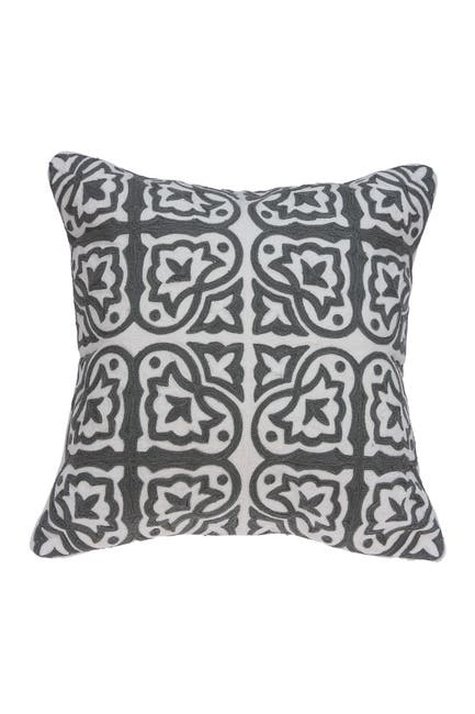 """Image of Parkland Collection Heera Traditional Pillow - 20"""" x 20"""" - Grey"""