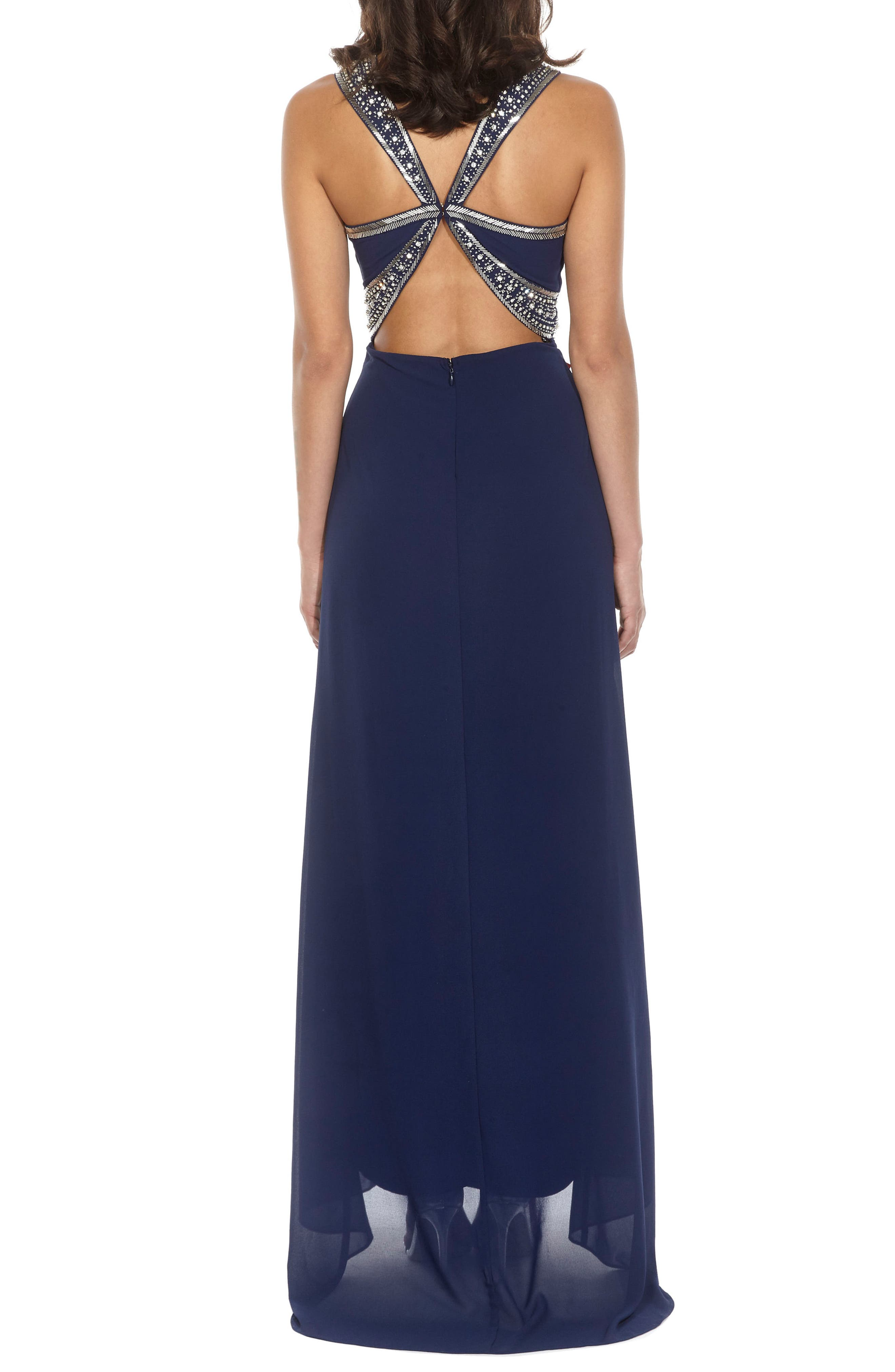 ,                             Akira Strapless Gown,                             Alternate thumbnail 7, color,                             410