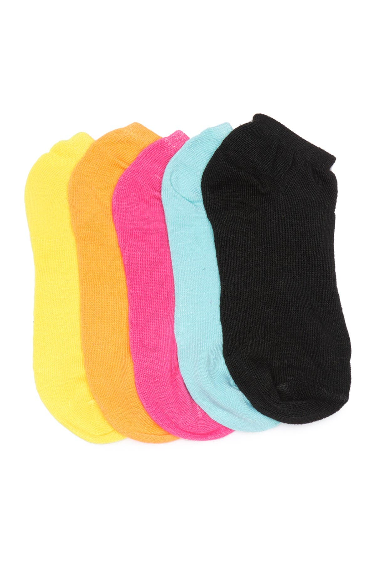 Image of Stems Assorted Color Ankle Socks - Pack of 5