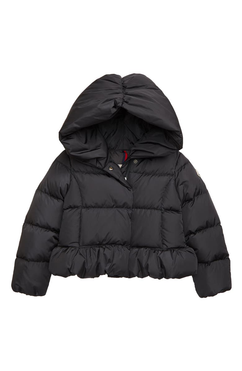 MONCLER Cayolle Water Resistant Down Quilted Puffer Jacket, Main, color, CHARCOAL