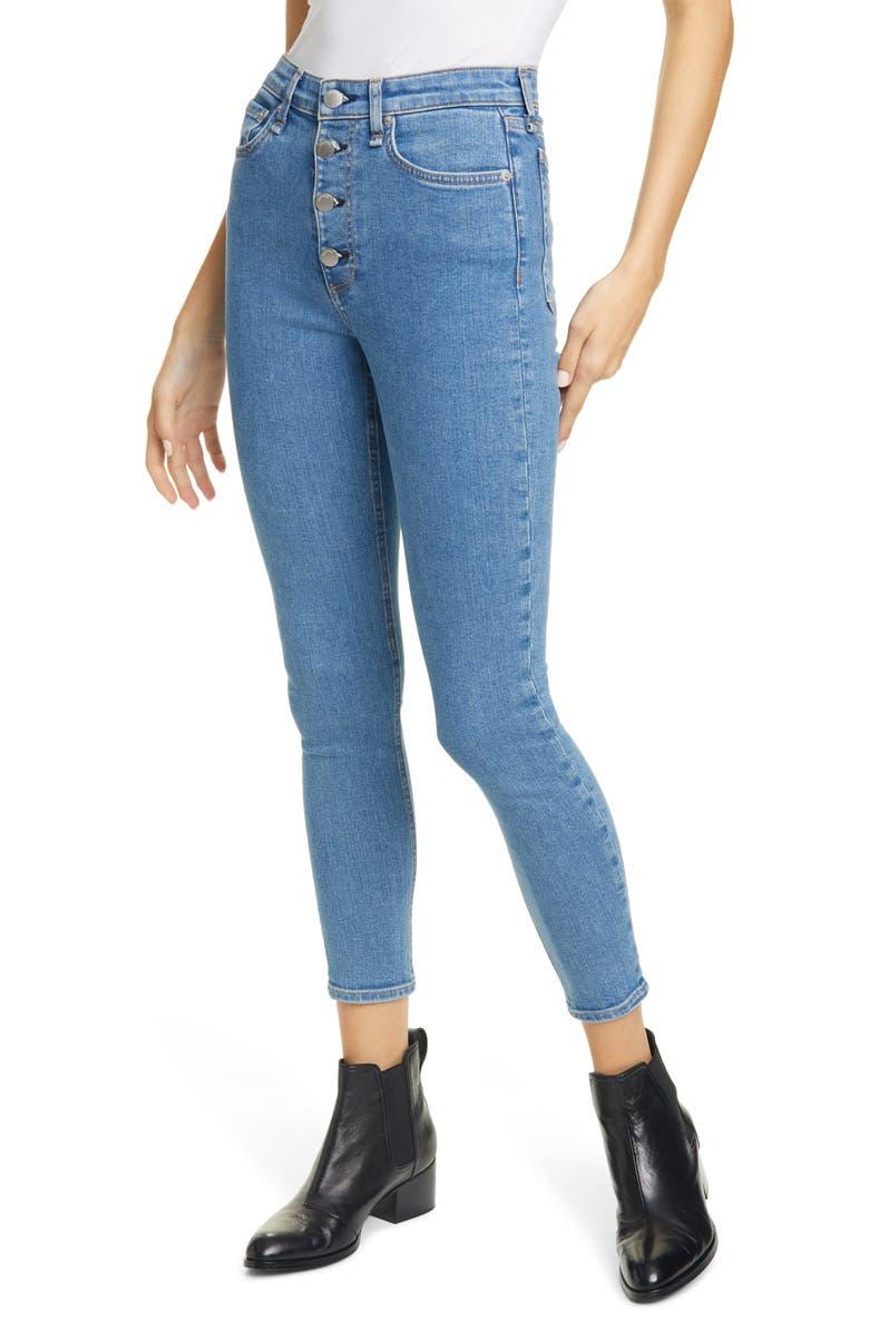 RAG & BONE Nina High Waist Ankle Skinny Jeans, Main, color, MONTANA
