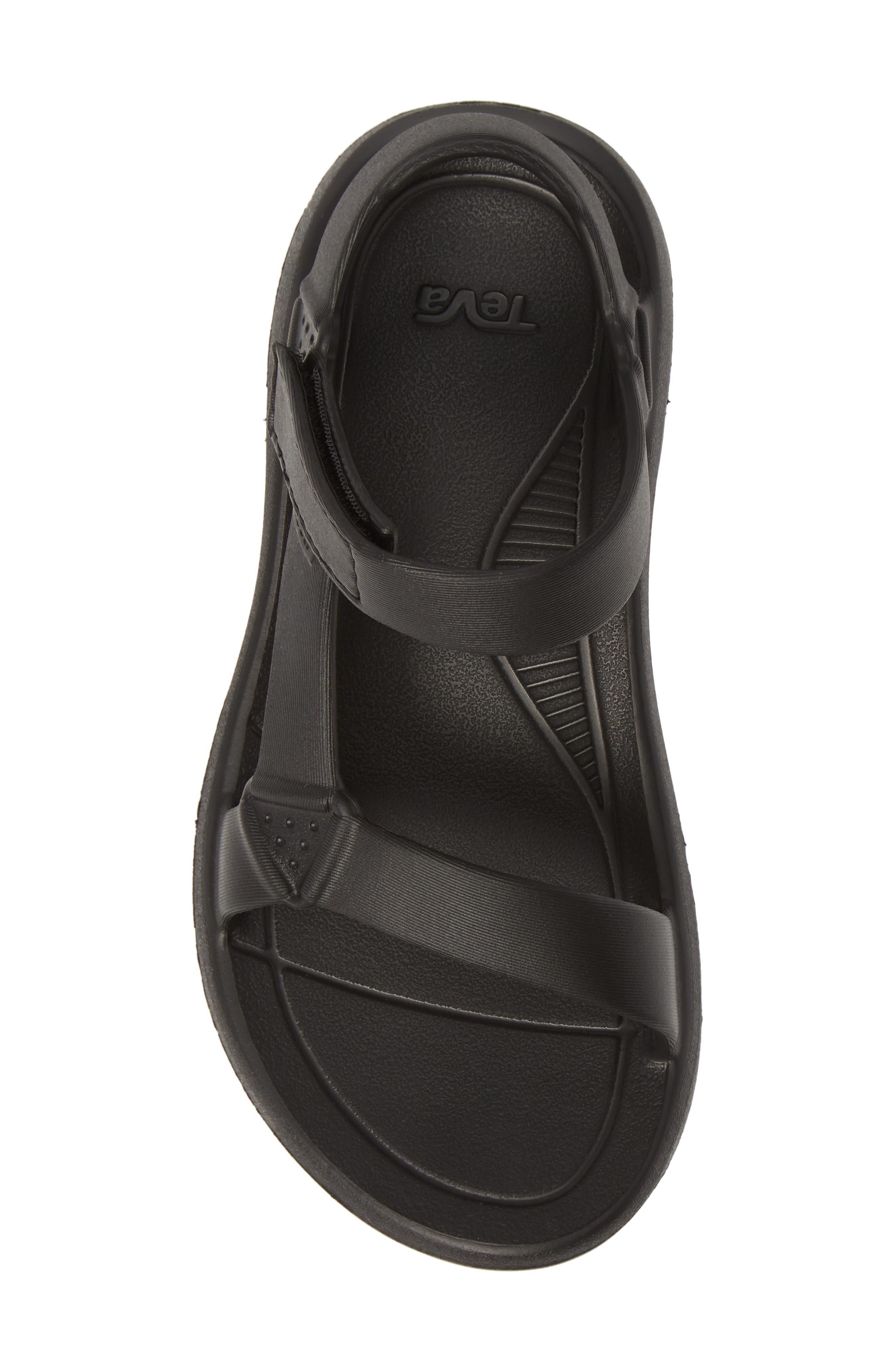 ,                             Hurricane Drift Water Friendly Sandal,                             Alternate thumbnail 5, color,                             BLACK FABRIC