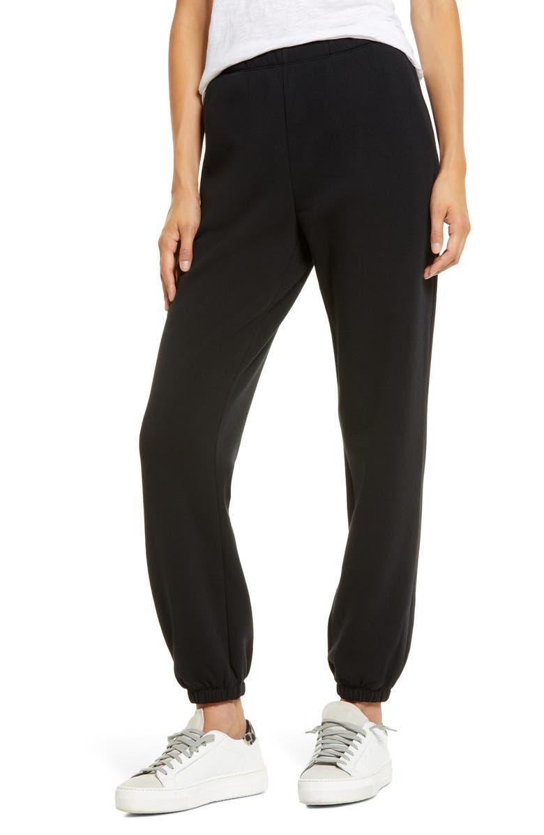 TREASURE & BOND Boyfriend Sweatpants, Main, color, BLACK