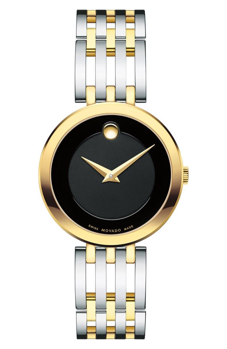MOVADO 'Esperanza' Bracelet Watch, 28mm, Main, color, 040