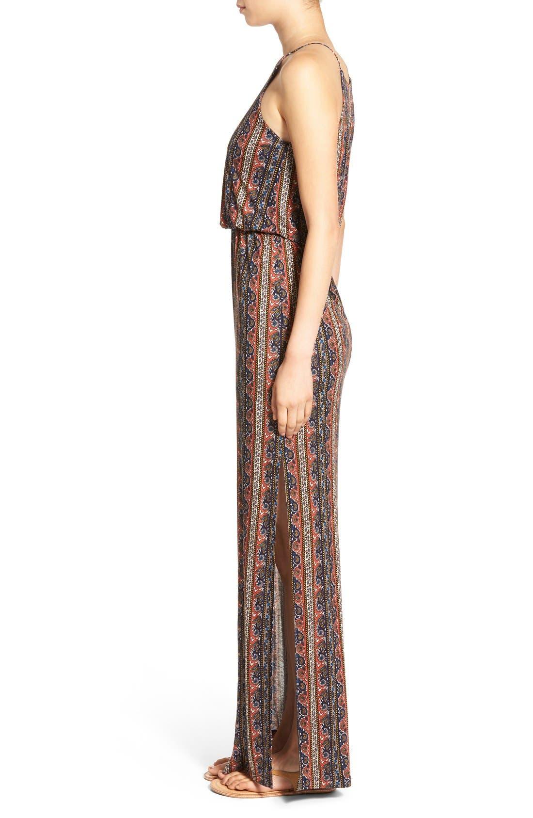 ,                             High Neck Maxi Dress,                             Alternate thumbnail 93, color,                             400