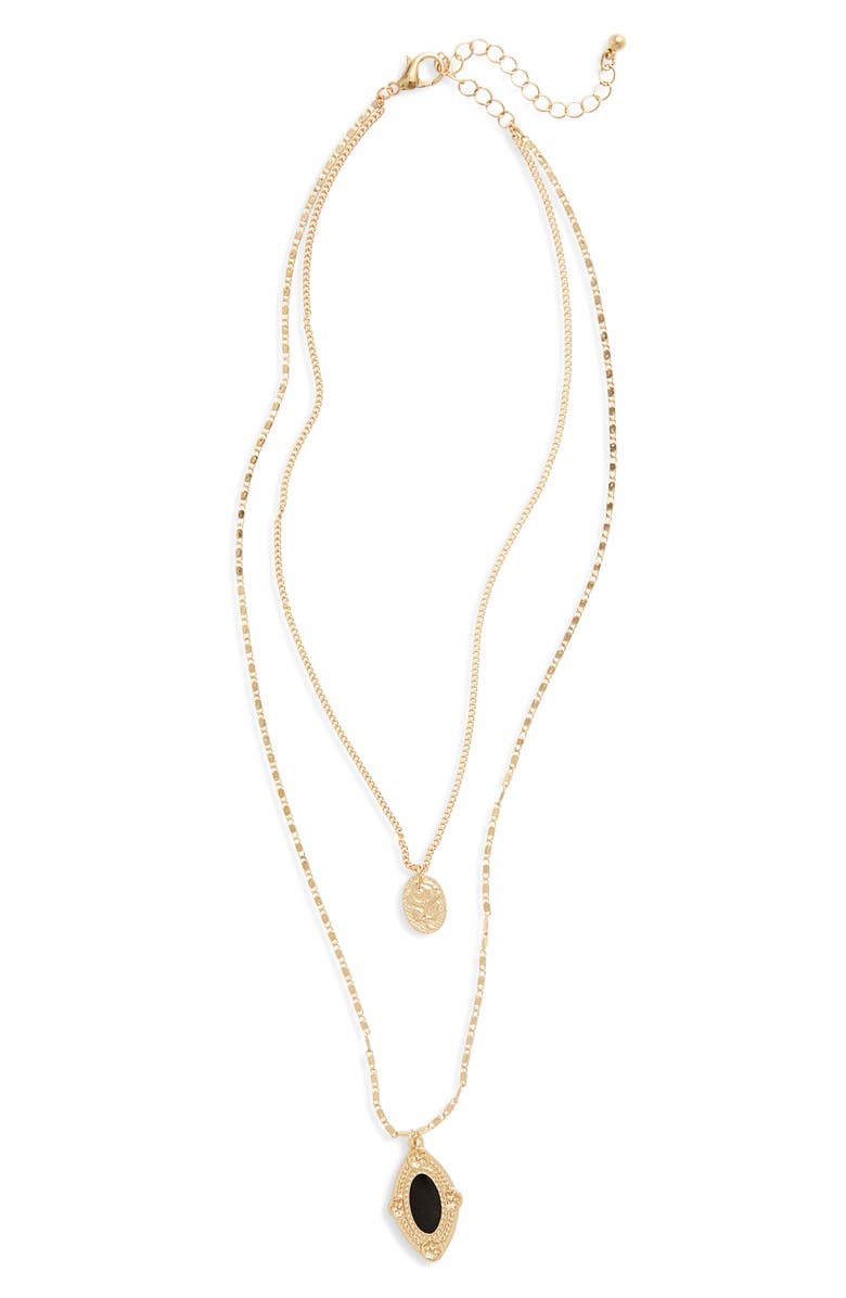 BP. Layered Medallion Necklace, Main, color, 710