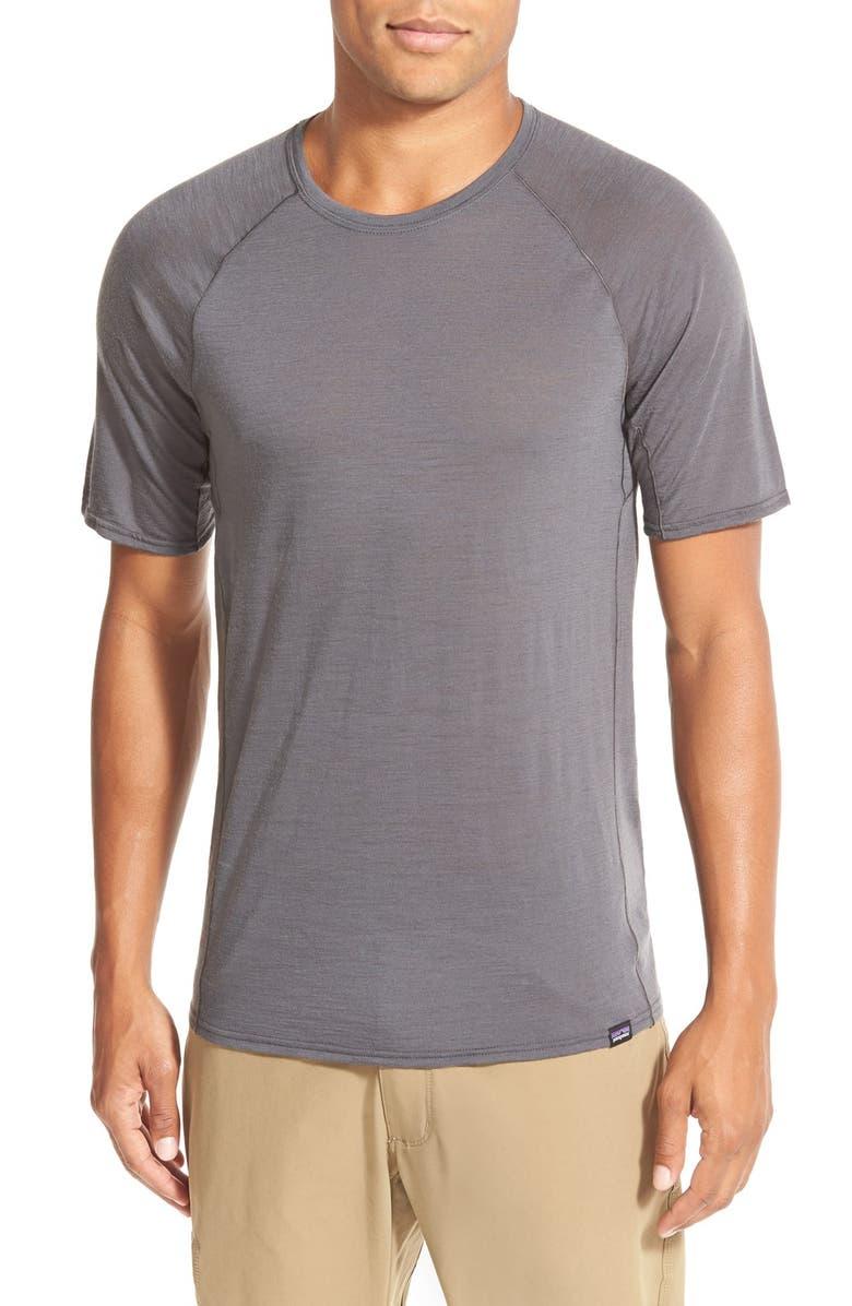 Patagonia Base Layer Merino Wool Blend Performance T-Shirt