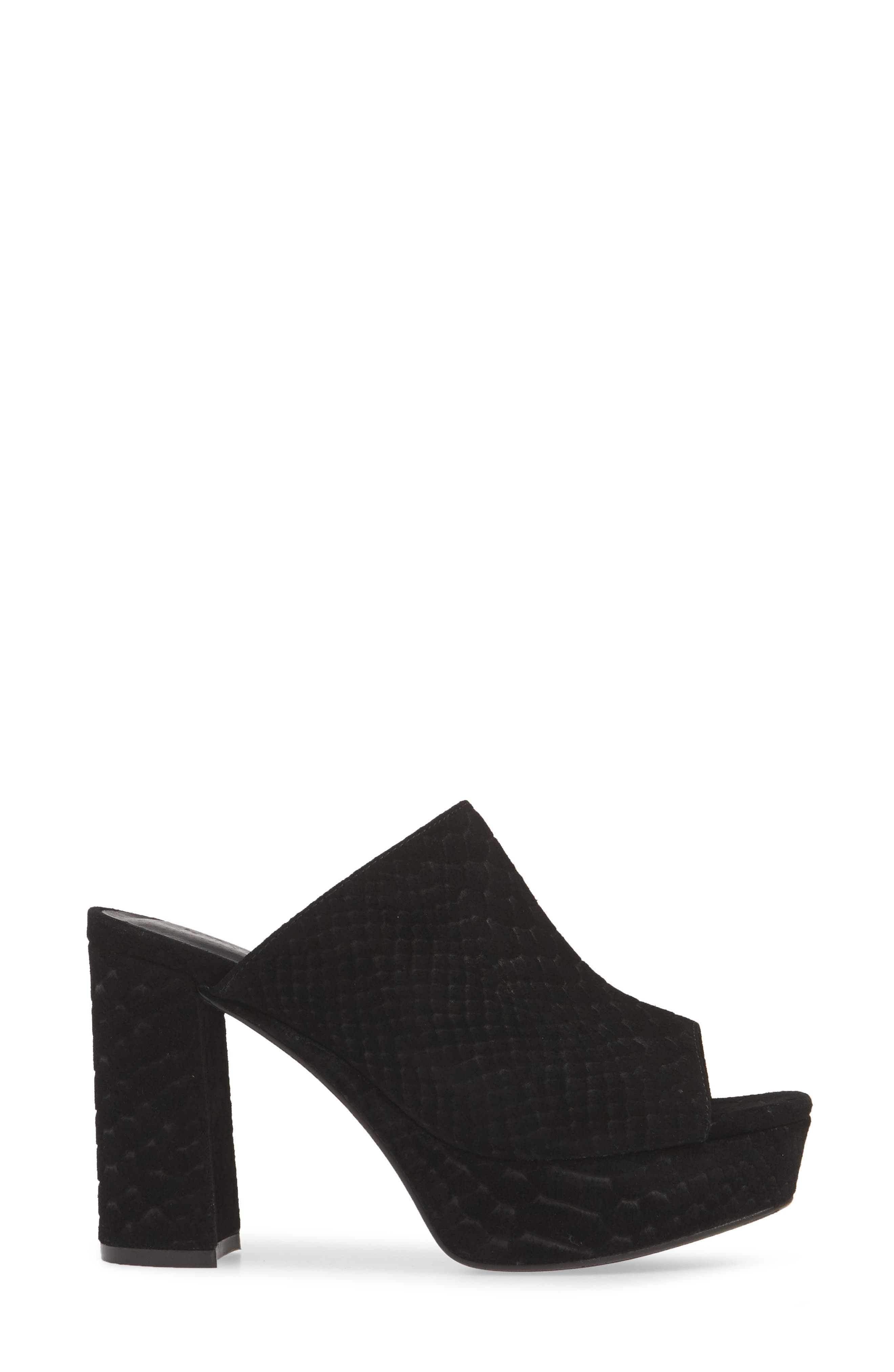 ,                             Pilar 2 Platform Slide Sandal,                             Alternate thumbnail 4, color,                             BLACK MATTE SNAKE PRINT