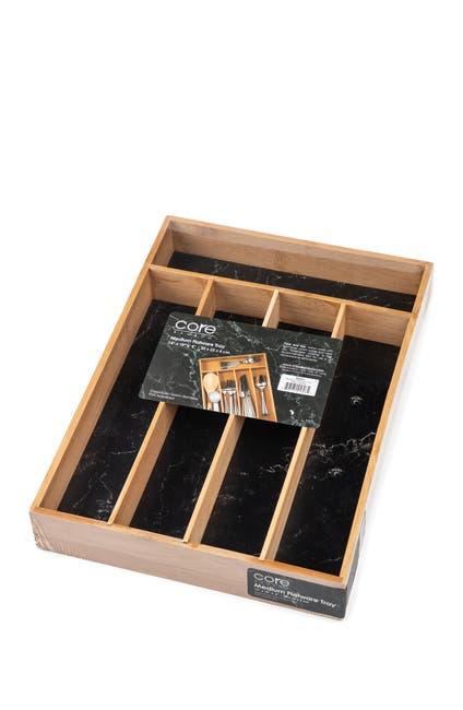 Image of Core Home Medium Flatware Tray - Black Marble