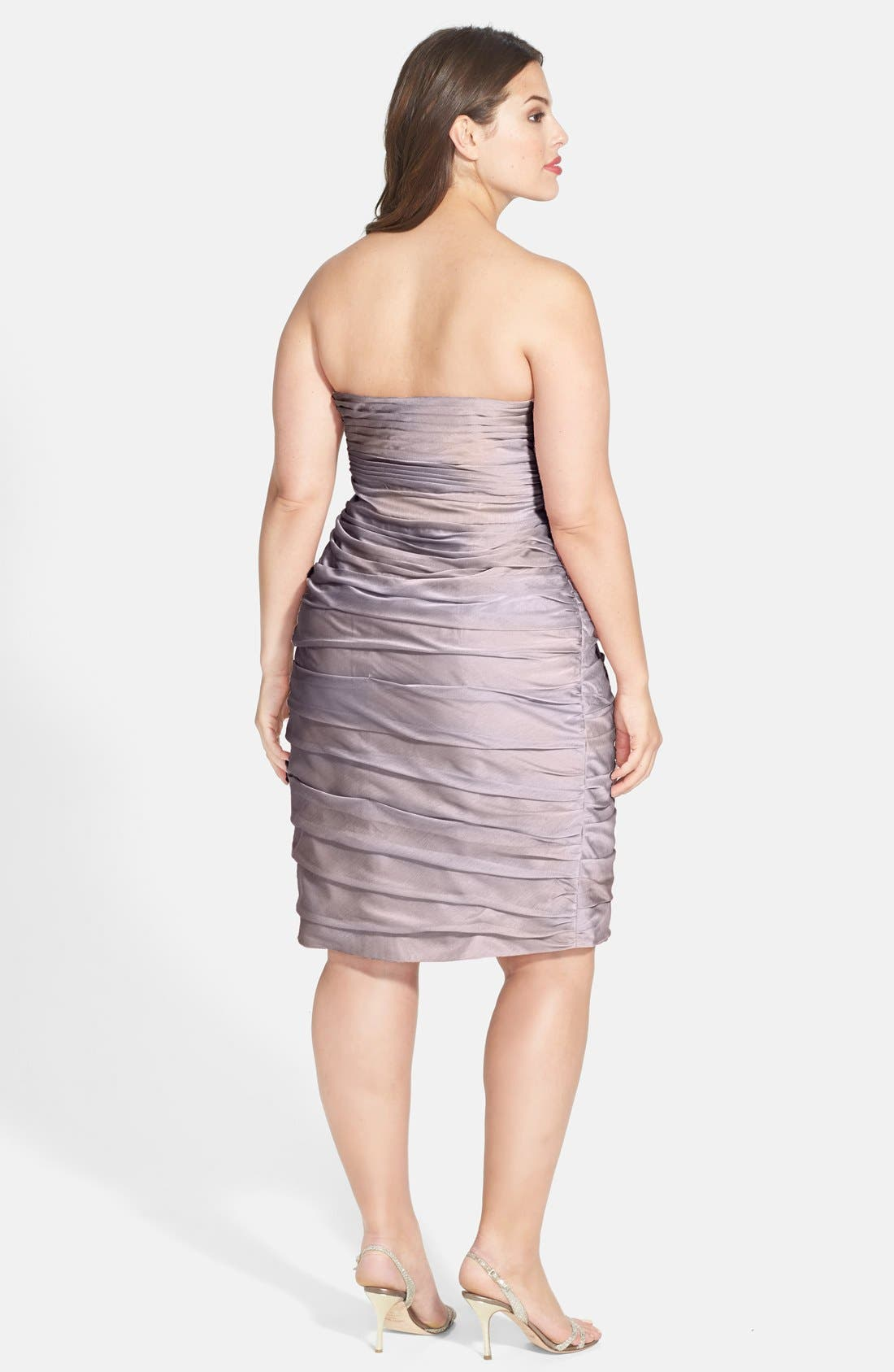 ,                             Ruched Strapless Cationic Chiffon Dress,                             Alternate thumbnail 20, color,                             262