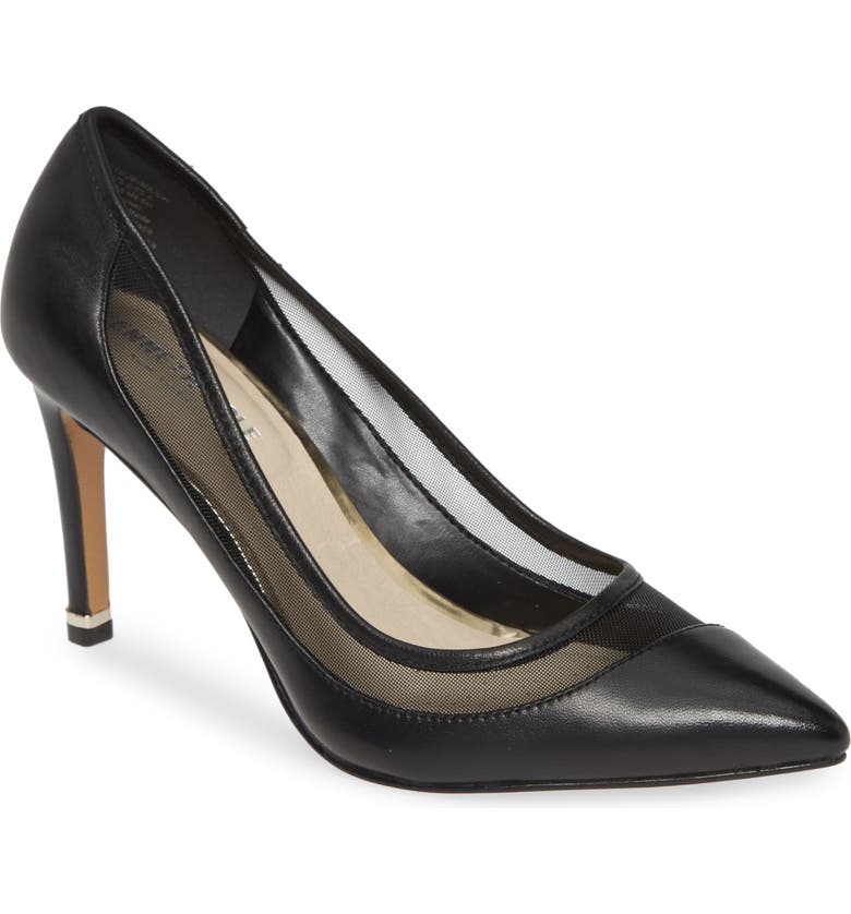 KENNETH COLE NEW YORK Riley Pump, Main, color, BLACK LEATHER