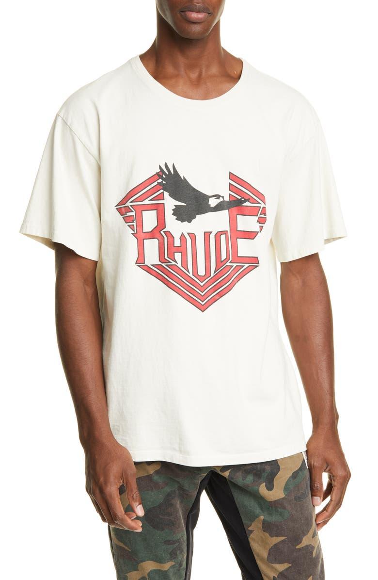 RHUDE Rhanger T-Shirt, Main, color, WHITE