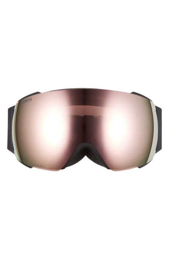 Smith 4d Mag 220mm Special Fit Snow Goggles In Black/ Everyday Rose Gold