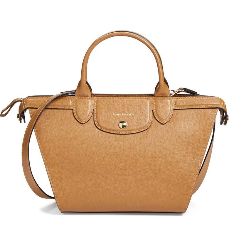 Longchamp 'Medium Le Pliage - Heritage' Leather Satchel | Nordstrom