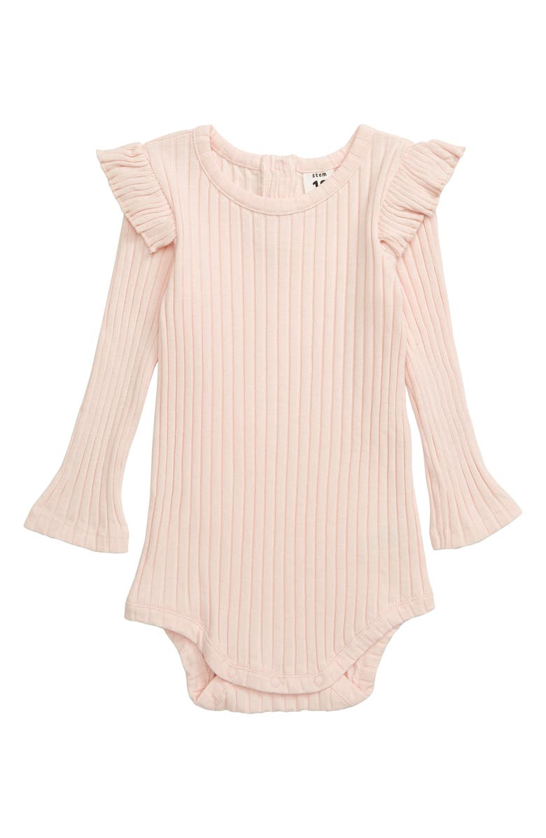 STEM Rib Bodysuit, Main, color, PINK SOFT