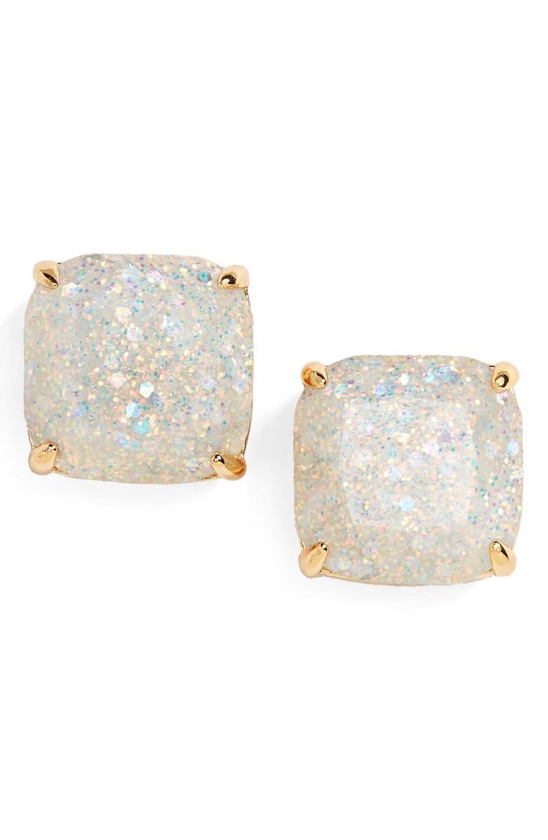 KATE SPADE NEW YORK glitter stud earrings, Main, color, OPAL GLITTER