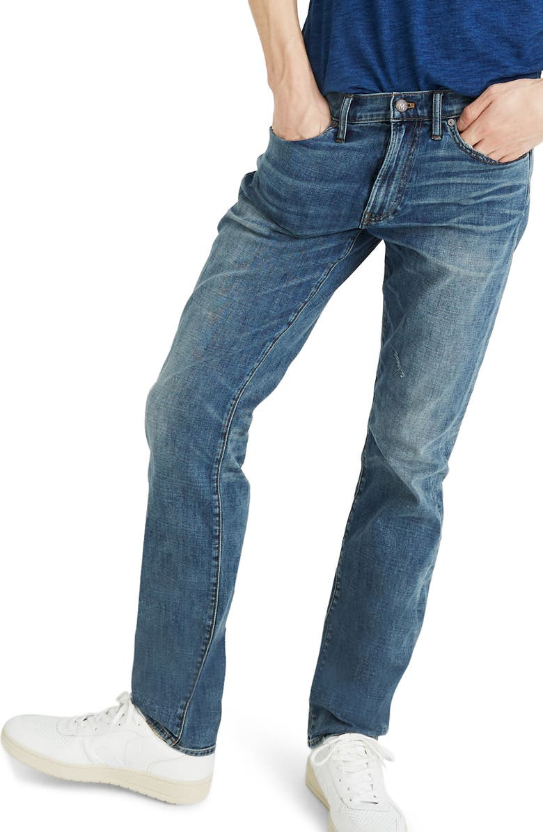 MADEWELL Straight Leg Jeans, Main, color, HUTCHINS